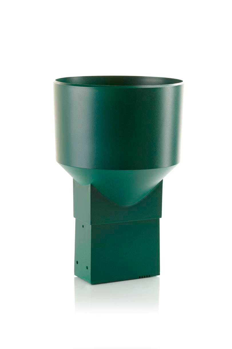 Professional gauge casing in standard green color